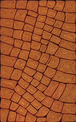 Sale 9239A - Lot 5024 - THOMAS TJAPALTJARRI (C1964 - ) Tingari acrylic on canvas 156 x 97 cm (stretched and ready to hang) signed verso; certificate of auth...