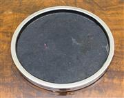 Sale 8222 - Lot 96 - A circular chrome tray with black base insert, D 34cm