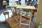 Sale 8272 - Lot 1085 - Pair of Fold Out Side Tables