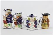 Sale 8654 - Lot 10 - Two Allertons Toby Jugs, Matching Teapot & Another Toby Jug (4)