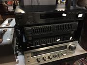 Sale 8659 - Lot 2211 - Toshiba Amplifier SB445, Sony Tuner, Philips Graphics Equalizer & TEAC Equalizer (4)