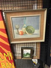 Sale 8853 - Lot 2039 - 2 Works: Janet Price  Murray Banks together with watercolour Still Life 1923 by W Mann; 20 x 15cm; 37.5 x 43cm (frames), each si...