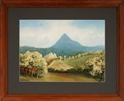 Sale 9013A - Lot 5073 - William Krogman (1901 - 1979) - Fertile at the Foot of Mount Warning, NSW 35 x 48.5 cm (frame: 58 x 71 x 2 cm)