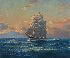 Sale 3770 - Lot 78 - JOHN ALLCOT (1888 - 1973) - The Clipper Ship Ben Torlich, 1866 60 x 50 cm