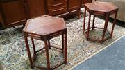 Sale 8147 - Lot 1024 - Pair of Cane Side Tables
