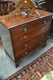 Sale 8335 - Lot 1073 - George III Mahogany Chest of Five Drawers, with later ring handles and bracket feet
