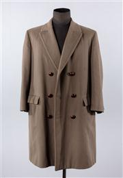 Sale 8770F - Lot 5 - A mens Aquascutum double breasted wool coat, approx size L