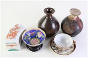 Sale 8944T - Lot 695 - Sealed potted vessel together with another and other ceramic items