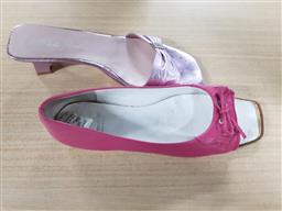 Sale 9176 - Lot 2257 - 2 Shoes in One Plastic Box: Pink Pedro Miralles Heeled Slip-Ons size 40 & Pink Paco Herrero Slip-Ons size 38