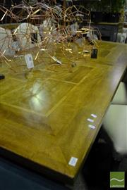 Sale 8472 - Lot 1030 - Marble Inlay Extending Dining Table