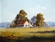 Sale 8519 - Lot 517 - Kevin Best (1932 - 2012) - Late Afternoon 29.5 x 39.5cm