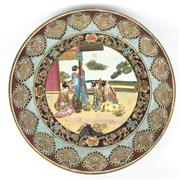 Sale 8607R - Lot 30 - C19th Japanese Charger Depicting a Memory of a Geisha (D: 51cm) -