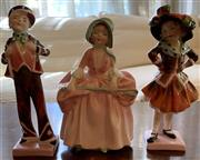 Sale 8510A - Lot 54 - Three Royal Doulton figures Bo Peep Pearly boy & Pearly boy, the tallest H 13cm