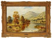 Sale 8945 - Lot 2025 - C Leader - Travelling Down Stream 39 x 59 cm (frame: 55 x 75 x 6 cm)