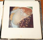 Sale 8976H - Lot 52 - Editor/ Publisher  Hermann Bahr, Klimt Limited Edition of Loose Leaf Black & White and tipped in colour Litho graphs Sheet size-47X4...