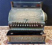 Sale 9022 - Lot 1003 - Vintage National Brass Cash Register (h:33 x w:42 x d:41cm)