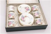 Sale 9040 - Lot 29 - A Boxed Set of 6 Aynsley Coffee Duos (One Handle needs repair piece is included)