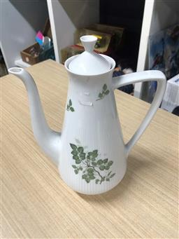 Sale 9176 - Lot 2603 - Vintage Rorstrand China Rodos Coffee Pot, Printed Marks to base H:24ccm