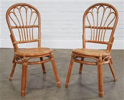 Sale 9210 - Lot 1018 - Pair of cane chairs (h:96cm)