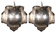 Sale 7988 - Lot 27 - Cartier Sterling Silver Pair of Leaf Dishes