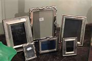 Sale 8022 - Lot 58 - Silver and Silver Plated Picture Frames
