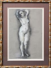 Sale 8203A - Lot 78 - European School (XX) - Standing Nude 55 x 37cm