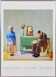 Sale 8296A - Lot 34 - David Hockney (1937 - ) - My Parents, 1977 79 x 58.5cm