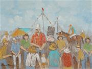 Sale 8519A - Lot 5060 - James Thompson (1937 - ) - Cooktown Horse Race Day, North Queensland 29.5 x 39.5cm