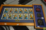 Sale 8525 - Lot 2060 - Football Card Set with Military Patches