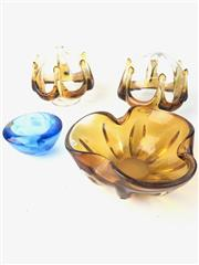 Sale 8761 - Lot 48 - Art Glass Bowl And Another With Two Shades