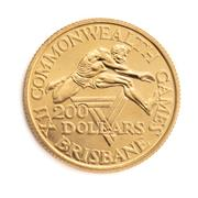 Sale 8855H - Lot 96 - XIIth 1982 Commonwealth Games Brisbane commemorative $200 gold coin, weight 9.99 grams