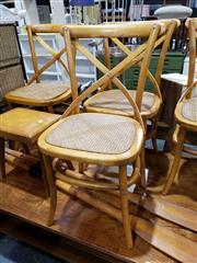 Sale 8988 - Lot 1064 - Set of 4 Cross Back Timber Dining Chairs (h:89 x w:44cm)