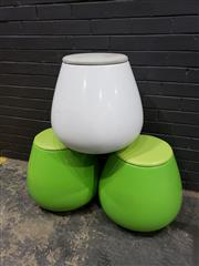 Sale 9022 - Lot 1069 - Set of Three Cognac By Keith Melbourne Bulbous Form Stools (H:50 W:32cm)