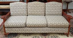 Sale 9103M - Lot 545 - A Three piece Javi lounge with floral decorated cushions.
