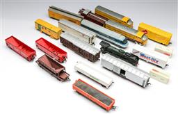 Sale 9148 - Lot 11 - A collection of plastic model trains and carriages inc Weet-Bix, Twisties and others