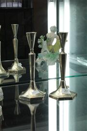 Sale 8024 - Lot 20 - Pair of Sterling Silver Candlesticks