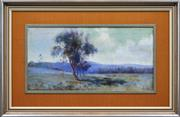 Sale 8294 - Lot 597 - Artist Unknown (XX) - Country Landscape at Dawn 31 x 62cm