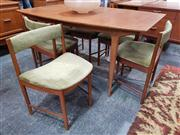 Sale 8741 - Lot 1082 - McIntosh Teak Table and set of 6 Chairs