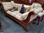 Sale 8717 - Lot 1017 - Mahogany Double Ended Settee