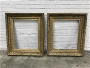 Sale 9068 - Lot 1080 - Pair of Victorian Gilt Ornate Frames, the exterior frame moulded with acanthus leaves (h:106 x w:94cm, inside )