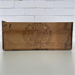 Sale 9257W - Lot 985A - French Timber Wine Box for 1975 Chateau dYquem