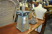 Sale 8093 - Lot 1329 - Brass Base Table Lamp and A Hanging Lantern