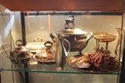 Sale 8189 - Lot 153 - Silver Plated Soup Tureen with Other Plated Wares incl. Trays