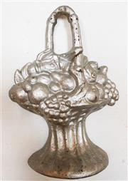 Sale 8256A - Lot 12 - An antique French cast iron door stop, Ht: approx 27cm