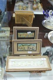 Sale 8327 - Lot 27 - Bone Painted & Framed Miniatures (3)