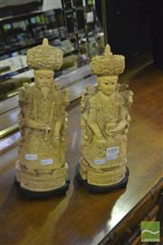 Sale 8380 - Lot 1008 - Pair of Resin Figures
