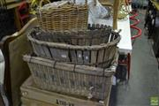 Sale 8566 - Lot 1680 - Collection of Timber and Wicker Baskets