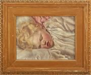 Sale 8902H - Lot 96 - Antique British School - Portrait of a Child faint signature remains lower right
