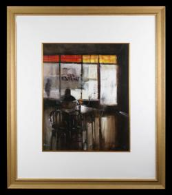 Sale 7923 - Lot 588 - Herman Pekel - Cafe Scene 59 x 49cm