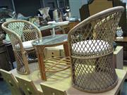 Sale 7932A - Lot 1131 - Caned 4 Piece Cafe Setting